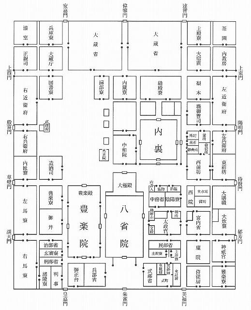 平安宮宮城図 (図版出典『図説 平城京事典』.jpg