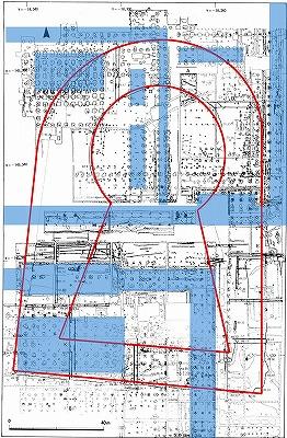 第二次大極殿及び内裏地区における神明野古墳の痕跡.jpg
