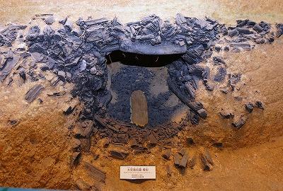 県立橿原考古学研究所付属博物館で展示されている太安万侶の墓の復元模型