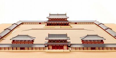 平城宮第一次大極殿院復原整備案1/200模型.jpg