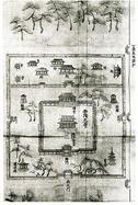 西隆寺とその塔